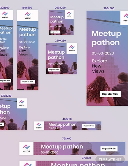 Meetup Event Web Ads Format