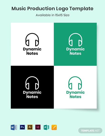 Music Production Logo Template