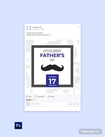 Free Father's Day Facebook Post