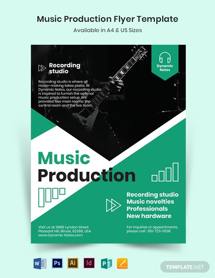 Music Production Flyer Template
