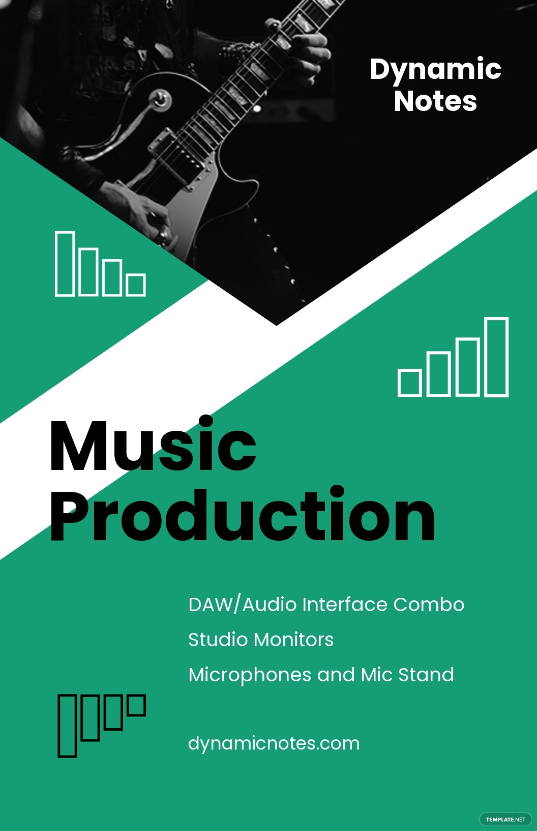 Music Production Poster Template
