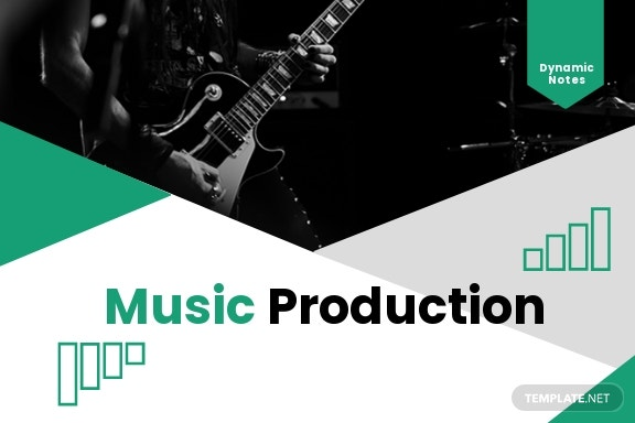 Music Production Postcard Template