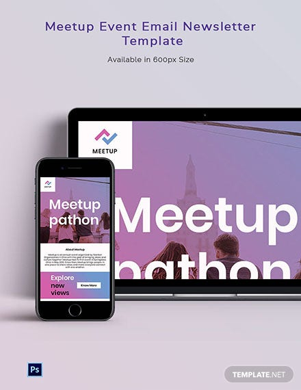 Meetup Event Email Newsletter Template