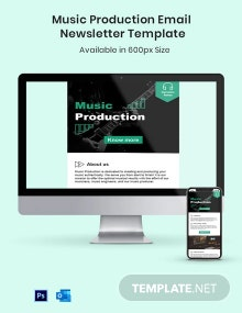Music Production Email Newsletter Template