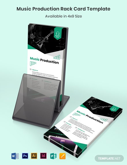 Music Production Rack Card Template