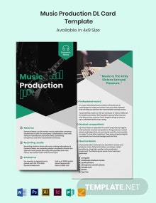 Music Production DL Card Template