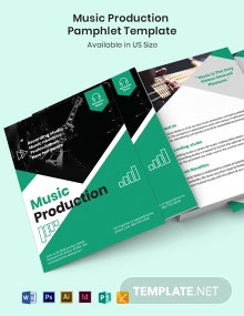 Music Production Pamphlet Template