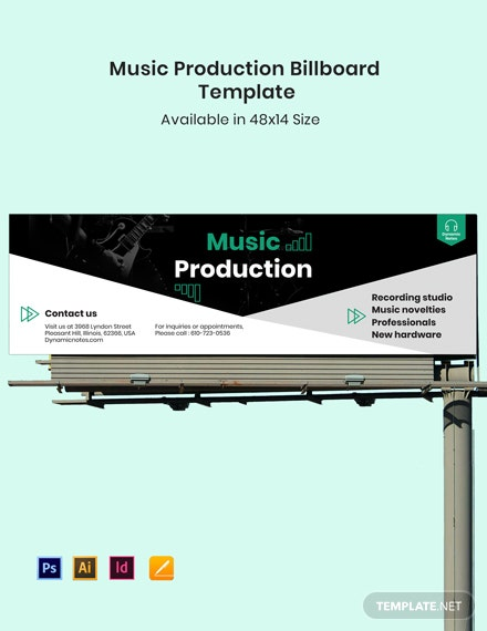 Music Production Billboard Template