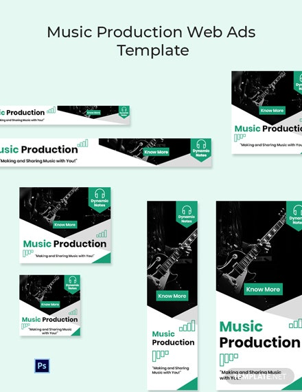 Music Production Web Ads Template