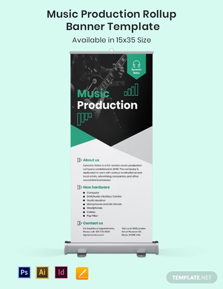 Music Production Roll Up Banner Template