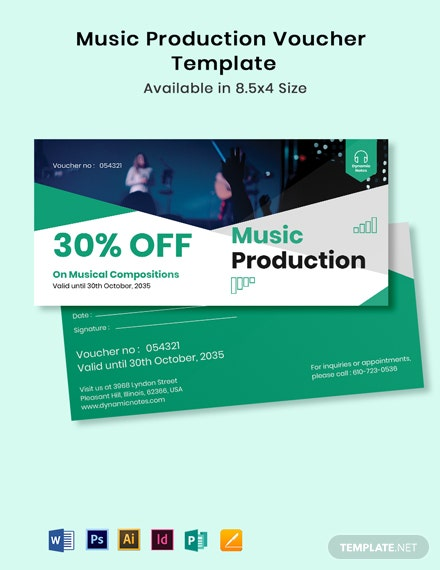Music Production Voucher Template