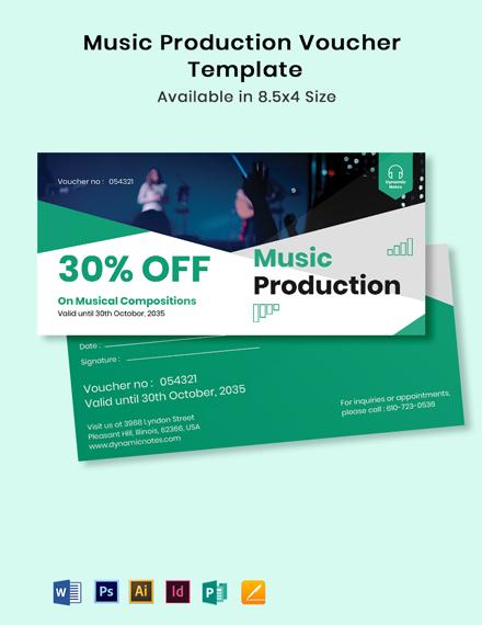 Music Production Voucher Template