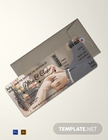Free Editable Boarding Pass Wedding Invitation Template