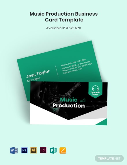 Music Production Business Card Template