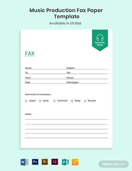 Music Production Fax Paper Template