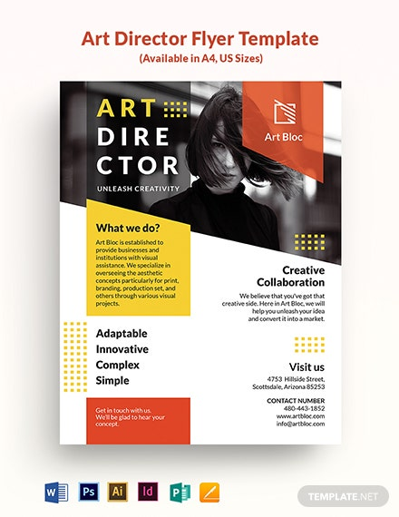 Art Director Flyer Template