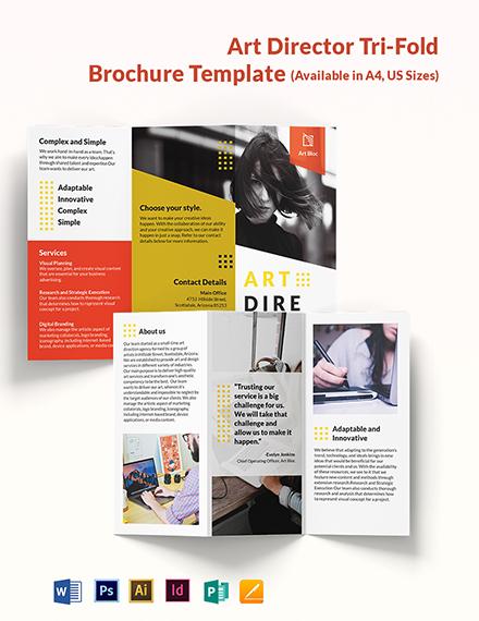 Art Director Tri-Fold Brochure Template