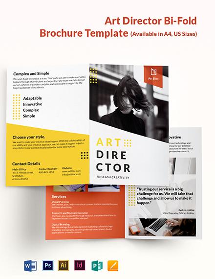 Art Director Bi-Fold Brochure Template