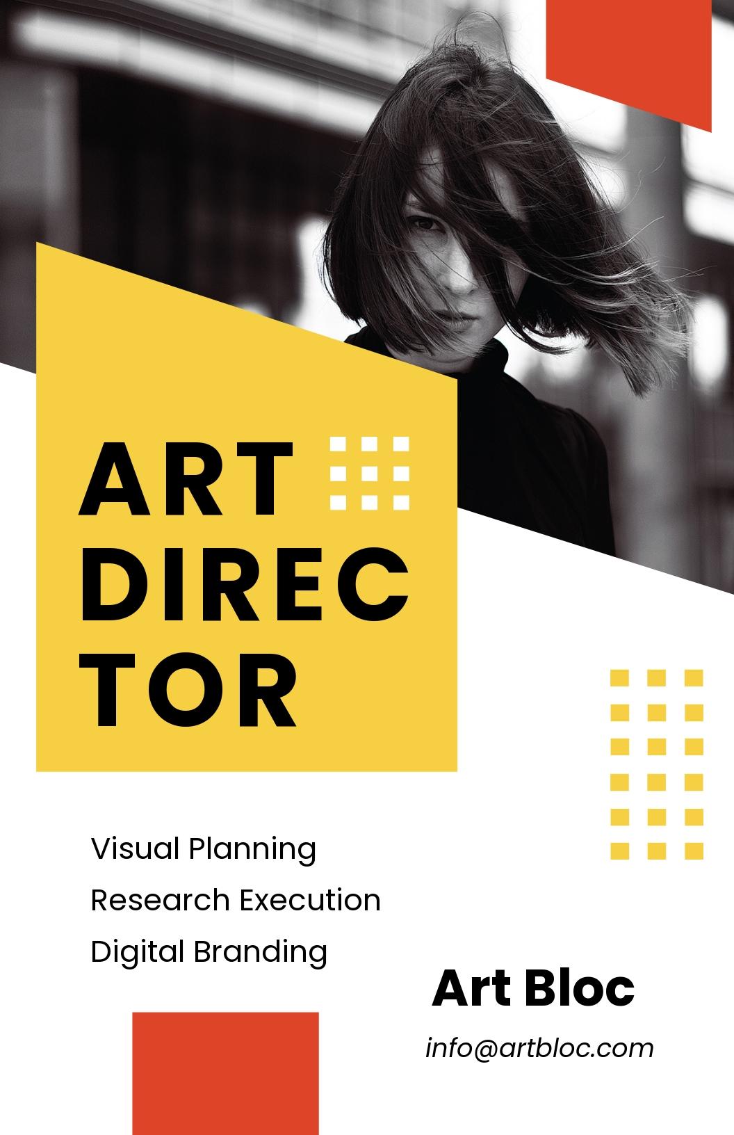 Art Director Poster Template