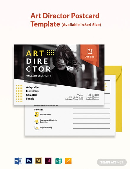 Art Director Postcard Template