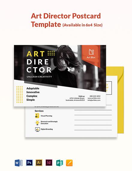 Art Director Postcard Template
