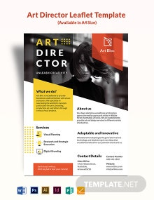 Art Director Leaflet Template