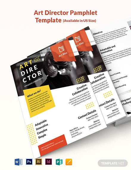 Art Director Pamphlet Template