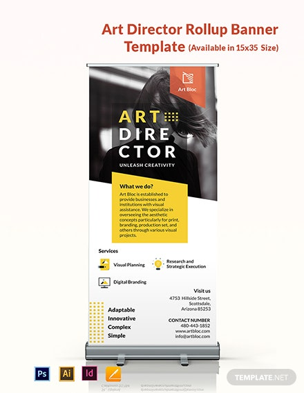 Art Director Roll Up Banner Template