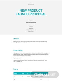 New Product Launch Proposal Template