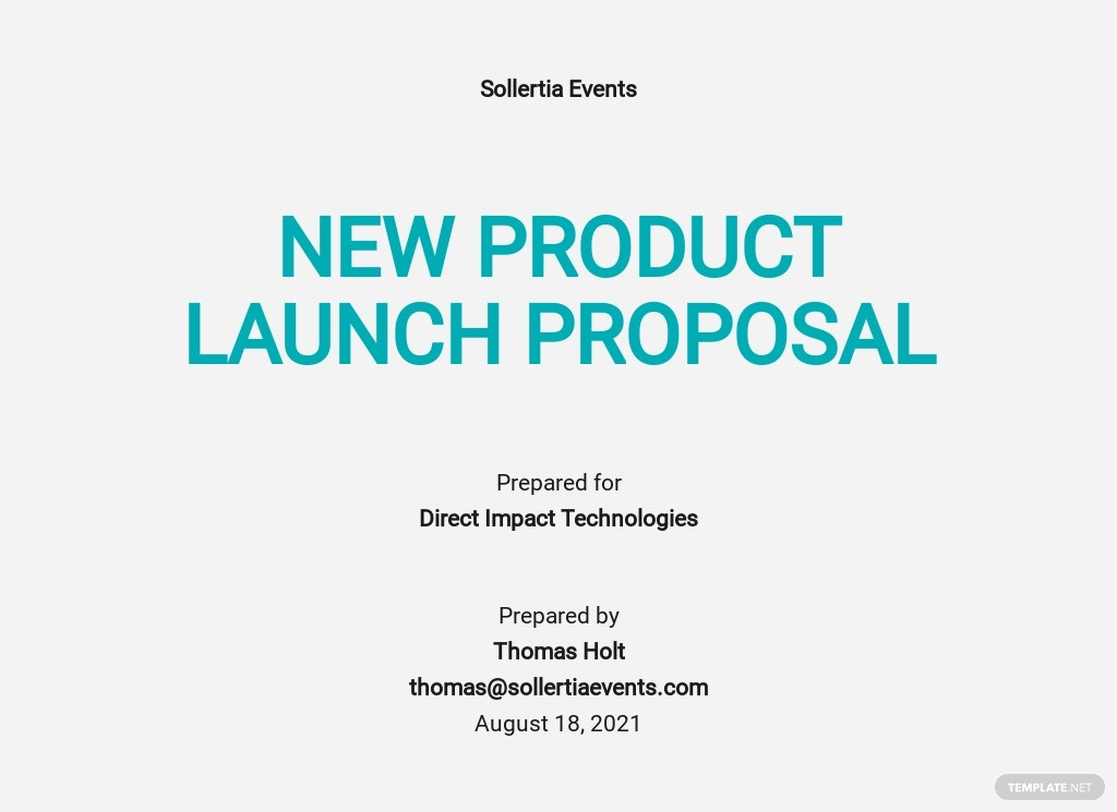 New Product Launch Proposal Template [Free PDF] - Google Docs, Word, Apple Pages