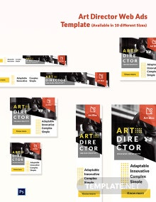 Art Director Web Ads Template