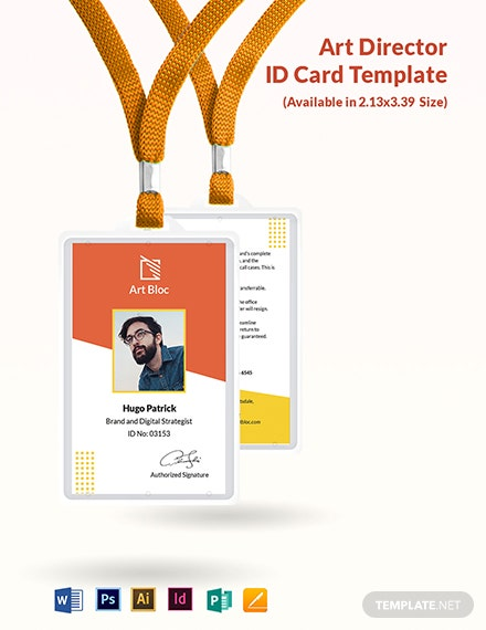 Art Director ID Card Template