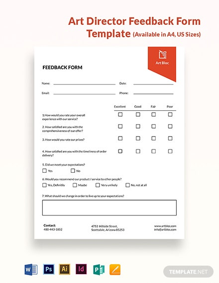 Art Director Feedback Form Template