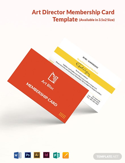 Art Director Membership Card Template