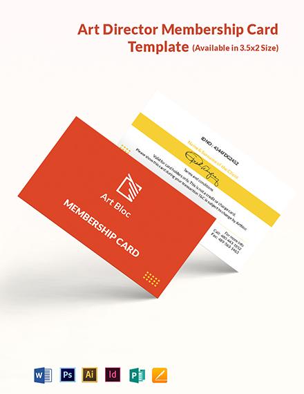 Art Director Membership Card Template