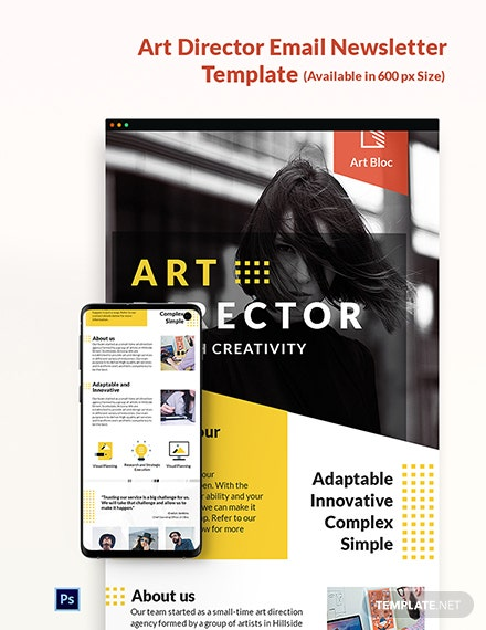Art Director Email Newsletter Template