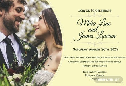 Editable Wedding Invitation Template