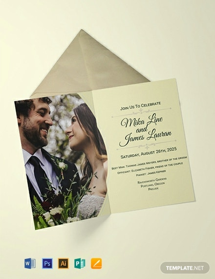 Free Editable Wedding Invitation Template Word Psd Indesign Apple Pages Publisher