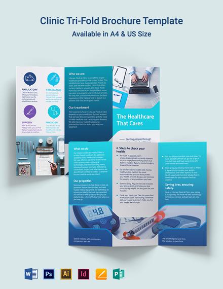Clinic Tri-Fold Brochure Template