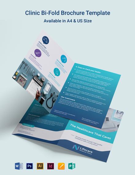 Clinic Bi-Fold Brochure Template