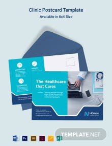 Clinic Postcard Template