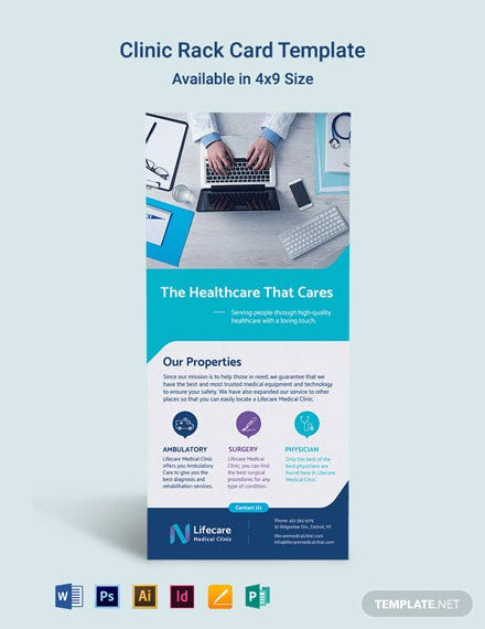 Clinic Rack Card Template