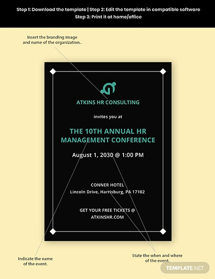 Company Event Invitation Template Format