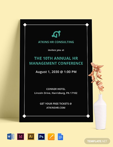 Company Event Party Invitation Template