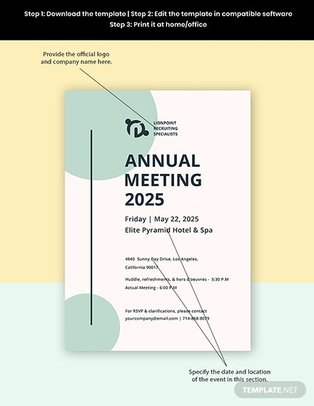 Annual Meeting Invitation Template Format