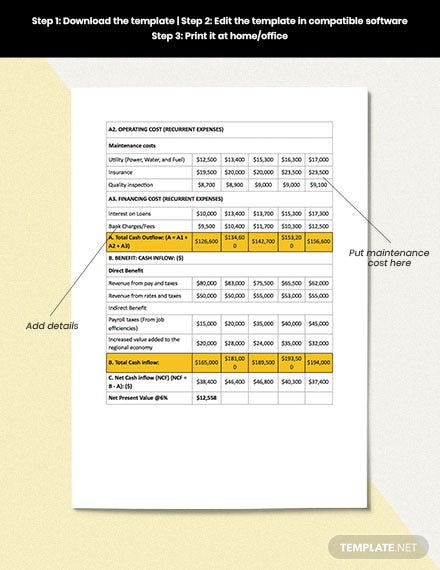 Home Construction Cost Analysis Editable