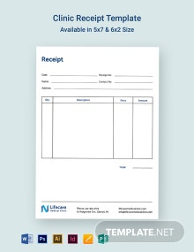 Clinic Receipt Template