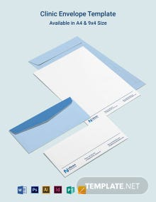Clinic Envelope Template