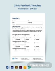 Clinic Feedback Form Template