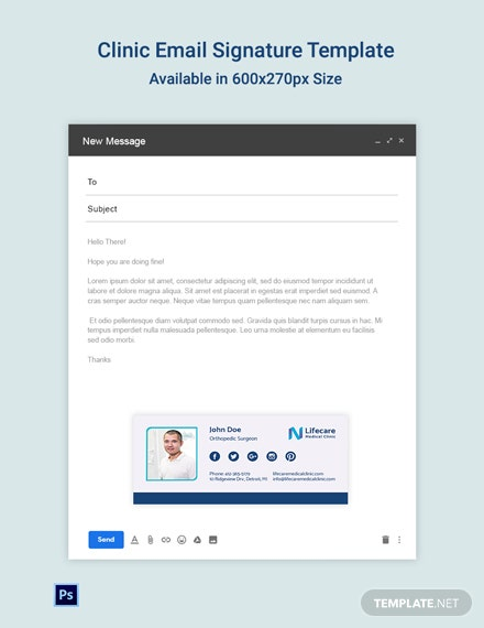 Clinic Email Signature Template